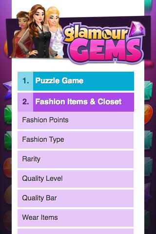 GlamourGems Single Page APP - Help Page